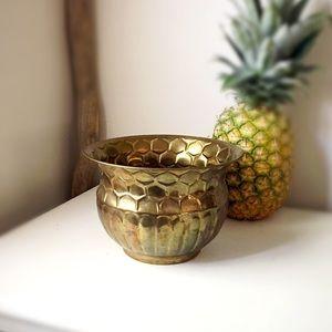 🆕 Listing! Vintage | Small Brass Planter